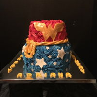 Wonder Women Theme Cake Had the pleasure of making this cake for a little girl turning 4yrs old...