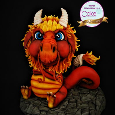 Cake International Birmingham 2016 Red Dragon - Gold Medal
