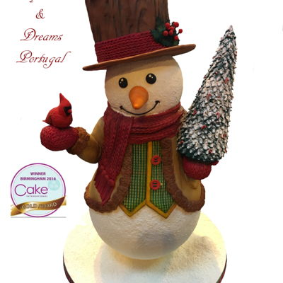 Cake International Birmingham 2016 Snowman - Gold Medal