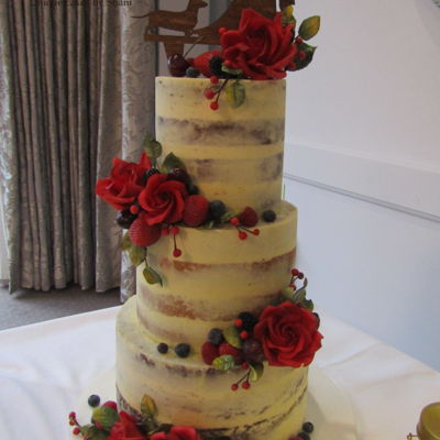 Dirty Naked Wedding Cake