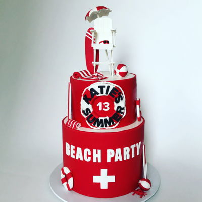 Summer Beach Party Cake