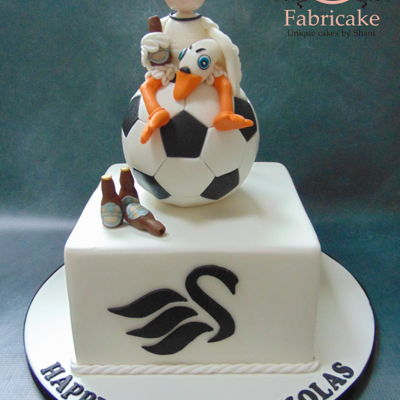 Swansea City Football Cake