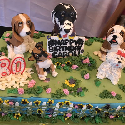 Who Let The Dogs Out?! Dog Lover Cake For Carol