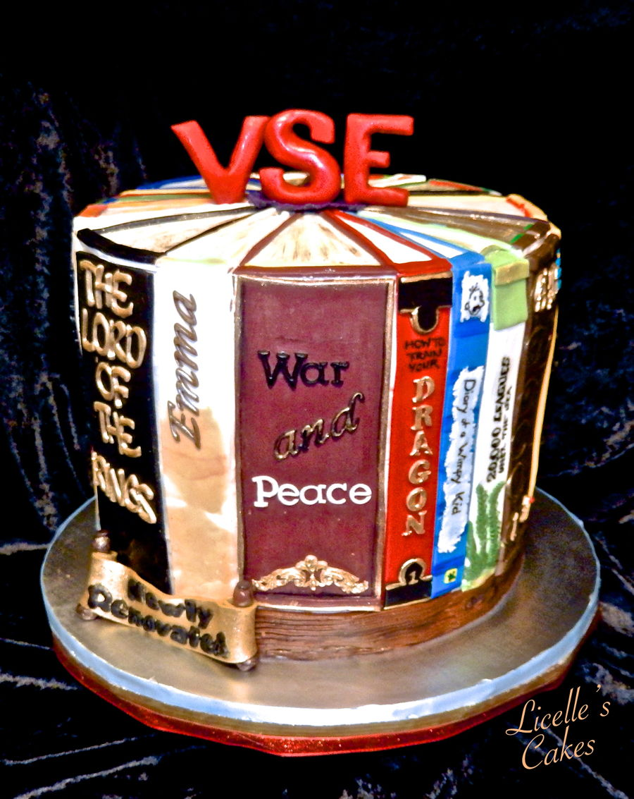 A Library Renovation Cake on Cake Central