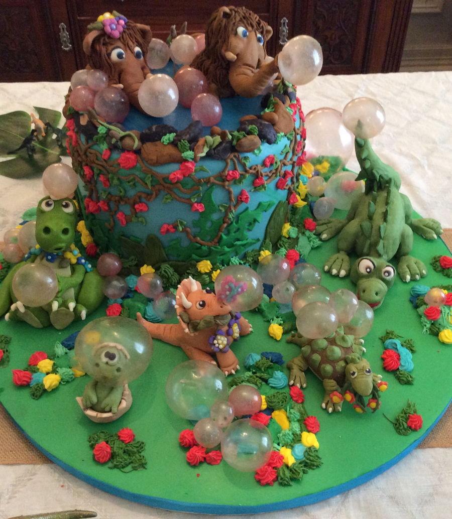Baby Dinosaur Baby Shower Cake Cakecentral Com