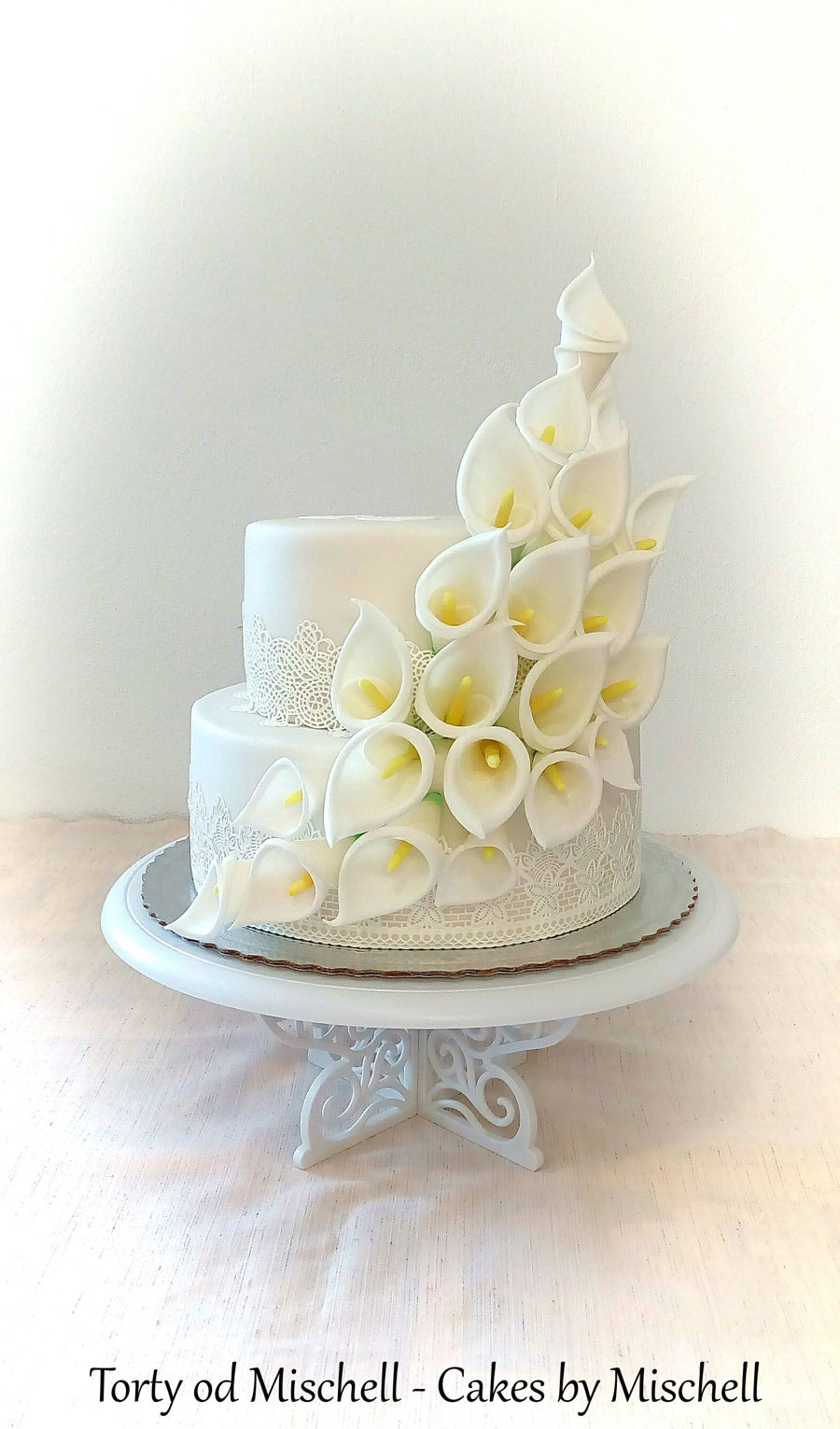 Calla Lily Wedding Cake on Cake Central