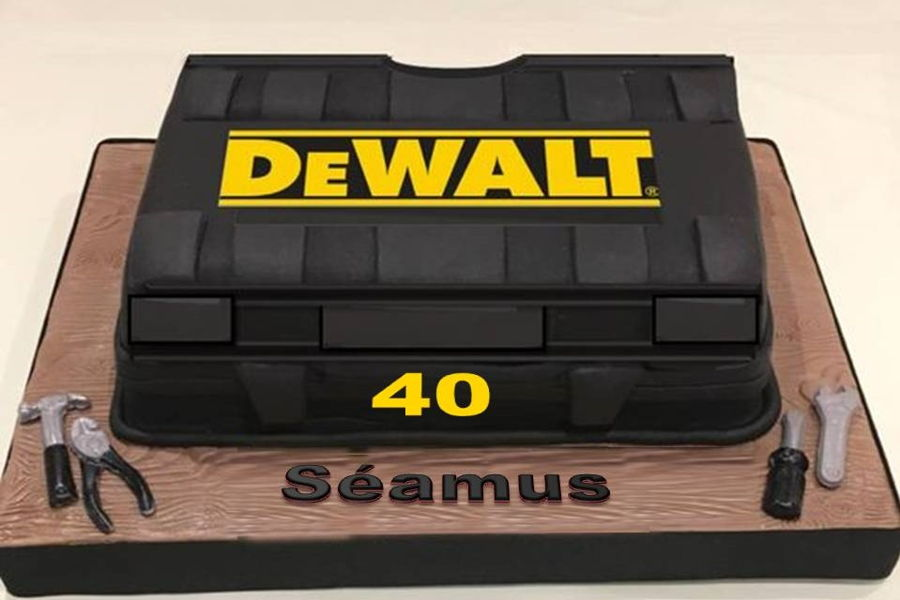 Dewalt Toolbox Cake on Cake Central