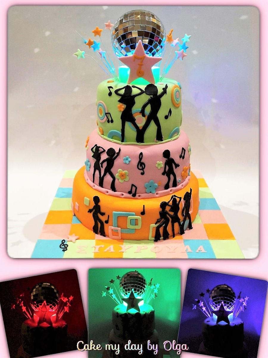 Terrific Disco Birthday Cake Cakecentral Com Funny Birthday Cards Online Hendilapandamsfinfo