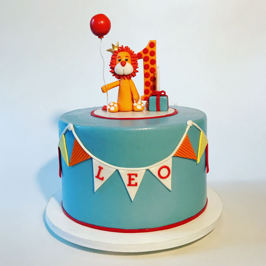 Astounding First Birthday Lion Cake Cakecentral Com Funny Birthday Cards Online Overcheapnameinfo