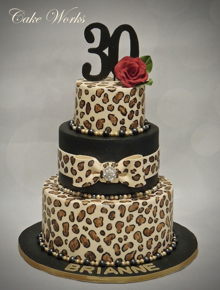 Awesome Leopard Print Birthday Cakecentral Com Personalised Birthday Cards Veneteletsinfo