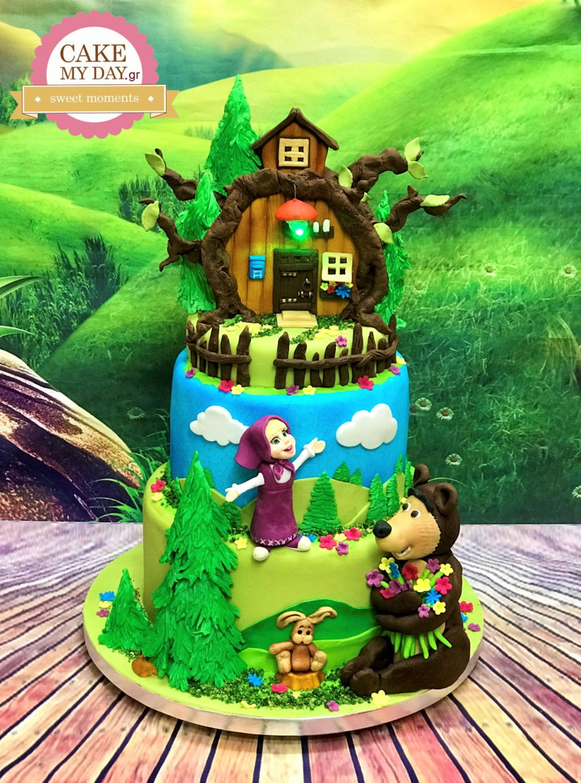 Masha And The Bear Birthday Cake Cakecentral