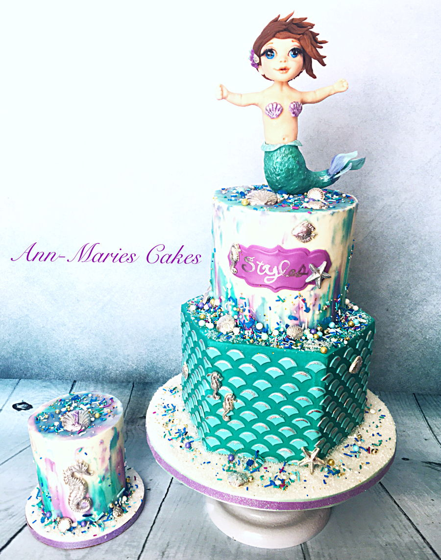Mermaid 1st Birthday Cakecentral Com