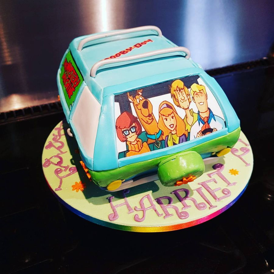 Mystery machine cake for Scooby doo cake template