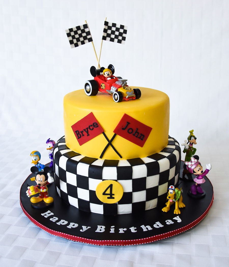 Swell Race Car Mickey Mouse Birthday Cake Cakecentral Com Funny Birthday Cards Online Elaedamsfinfo