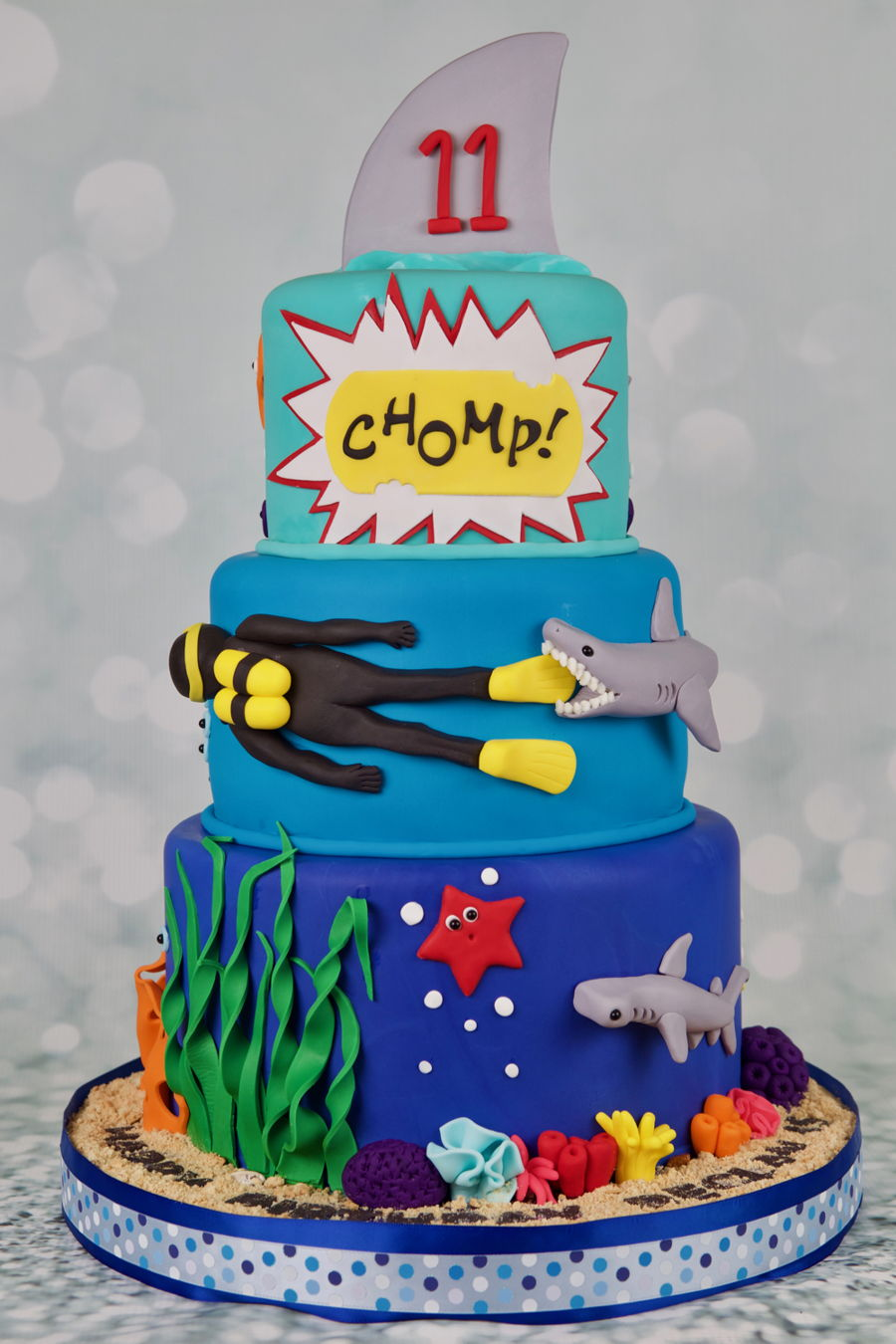 Awe Inspiring Shark Birthday Cake Cakecentral Com Funny Birthday Cards Online Fluifree Goldxyz