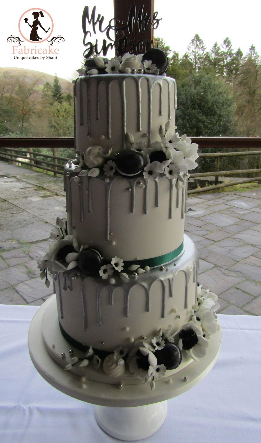 Silver Drip Wedding Cake Cakecentral Com