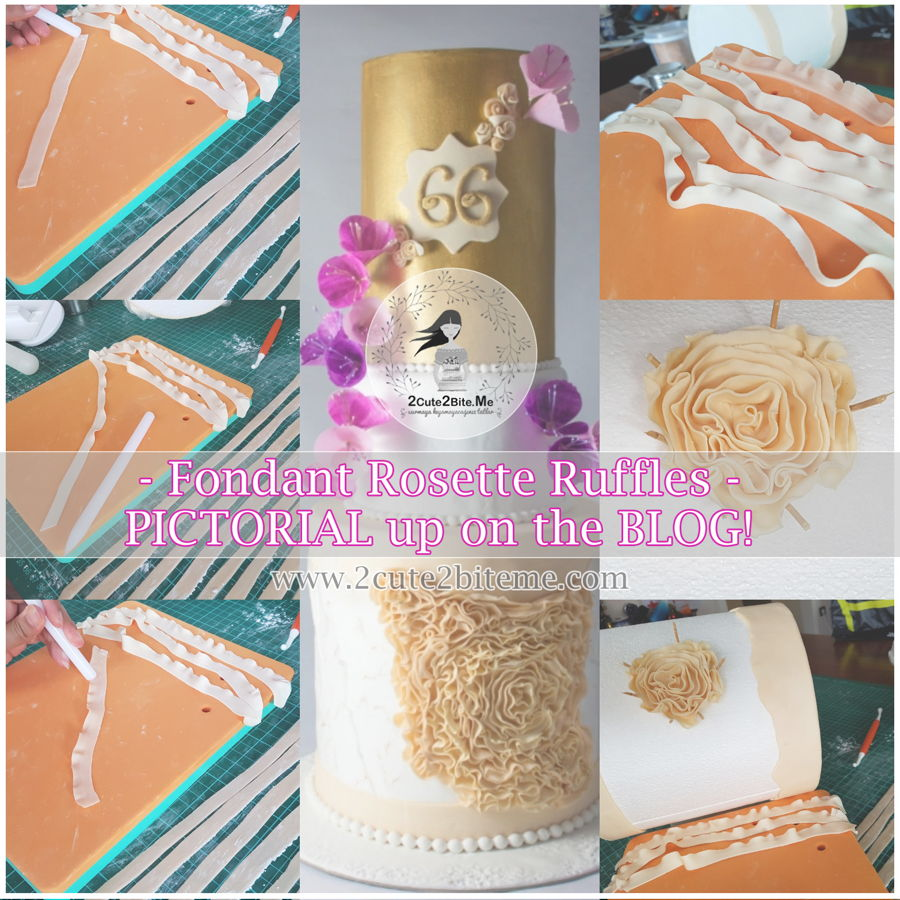 Tutorial: Fondant Rosette Ruffles on Cake Central