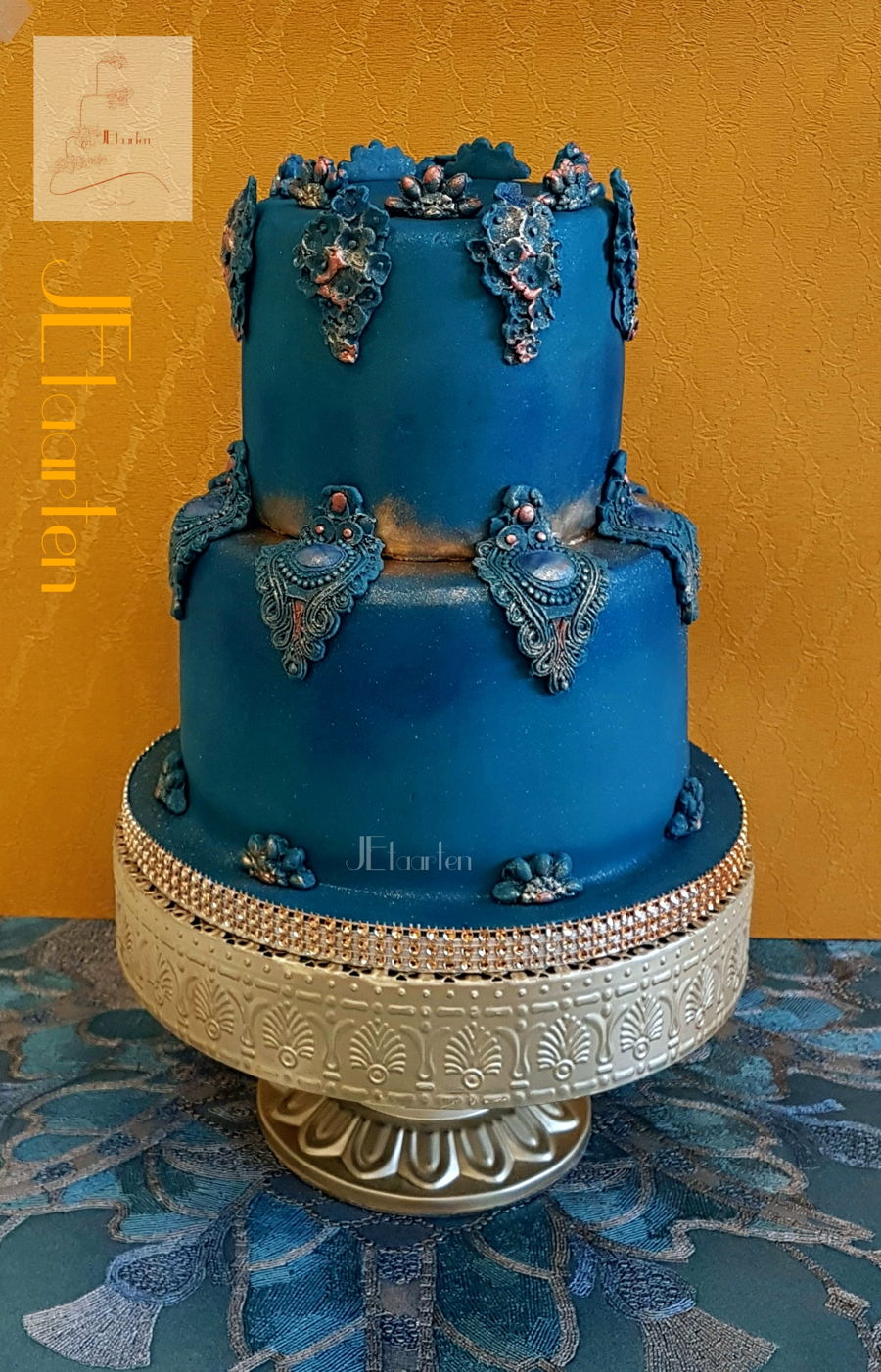 Wedding Cake Royal Blue on Cake Central