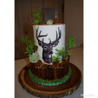 70Th Birthday Cake 70th birthday cake for a coworker's dad. She asked for something deer/outdoorsy themed. I searched online for inspiration and the...