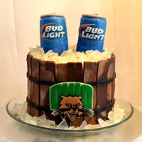 Bud Light Barrel Cake Brian's Bud Light cake! We turned a 6 inch cake into a Ohio University barrel full of ice cold Bud Lights for this birthday fella! The...
