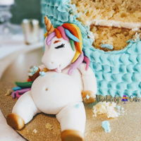 Fat Unicorn Via Absolutely Cake We finally got to make our own Fat Unicorn! And man I am in LOVE!
