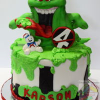 Ghostbuster cake covered with mmf and gum paste decorations