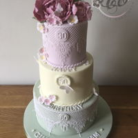 Girlie 3 Tier Cake Double Chocolate fudge and lemon Drizzle with the bottom tier dummy