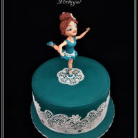 Jade Ballerina A very simple cake for a lovely ballerina!!!TFLAna Remígio CUPCAKES & DREAMS My facebook: https://www.facebook.com/pages/...