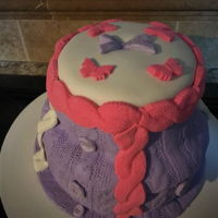 Knit Stitch Look Cake done in knit and crochet look with molds