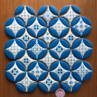 Mediterraneantile Cookies Mediterranean Tile Cookies, decorated with royal icing and patterns on the white diamond pieces are handpainted. I am inspired by @...