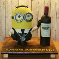 Minion Sommelier Chocolate mud cake