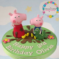 Peppa Pig Cake Topper Made for a customer making their own cake.