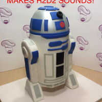 R2D2 Cake I made this cake for an avid Star Wars fan. It stood about 3 feet tall and the silver button on his shoulder would make R2D2 sounds when...