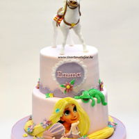 Rapunzel Cake Rapunzel cake for little Emma she also loves Maximus. This was not easy, but i'am happy with the result