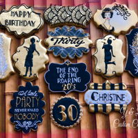 Roaring 20's Decorated Cookies Decorated cookies, roaring 20's, goodbye 20's, 30th birthday