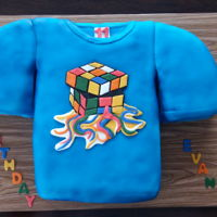 T-Shirt Cake Melting Rubik's Cube t-shirt cake requested by the aunt of the birthday lad. She had bought the t-shirt for him and wanted me to...