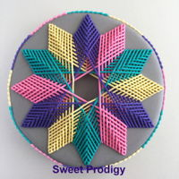 "Tangled - Sweet Prodigy (Four Interwoven Triangles) When I first created a royal icing ""sketch"" of this pattern, I immediately saw four interwoven triangles - a design that suits..."