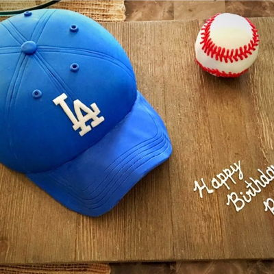 La Dodgers 3D Baseball Hat & Ball