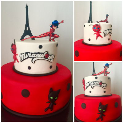 Miraculous A simple Ladybug cake for a Miraculous lover...!