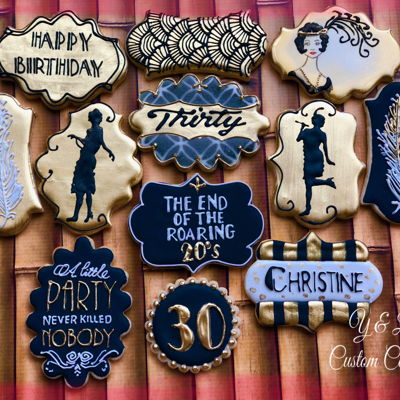 Roaring 20's Decorated Cookies