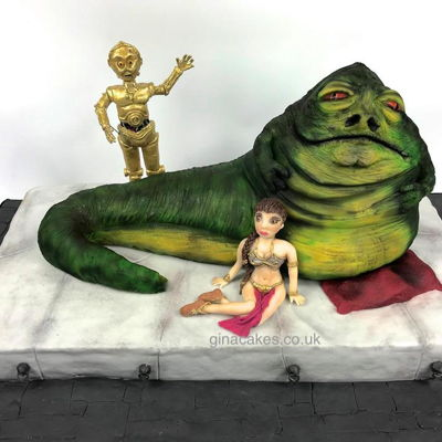 Star Wars Jabba The Hutt, Princess Leia, C3P0 Cake