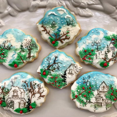 Winter Scenery Cookies