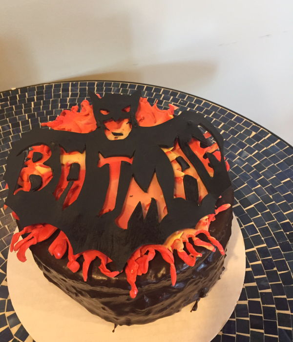 Batman & Total Eclispe Birthday Cake