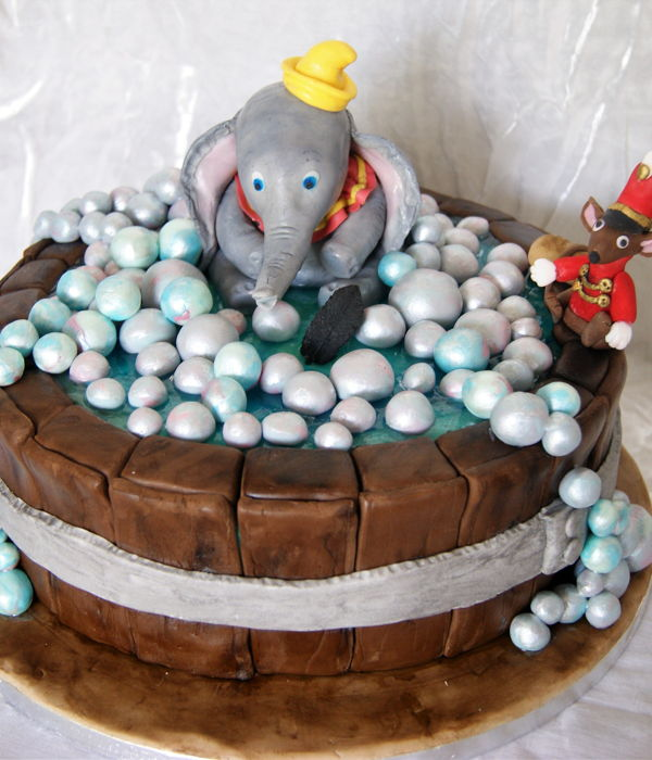 Dumbo In Tub Baby Shower Cake
