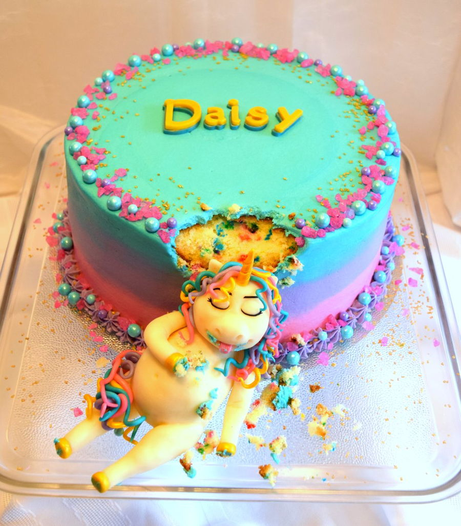 Chubby Unicorn Cake Cakecentral Com