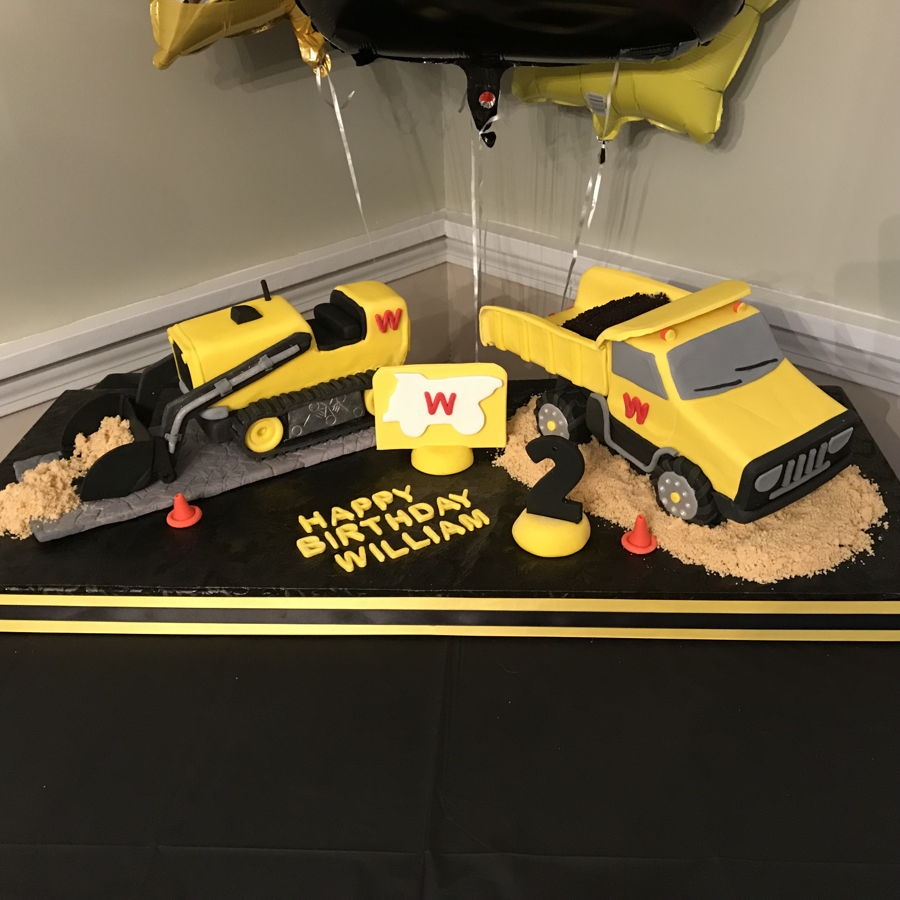 Outstanding Digger Birthday Cake Cakecentral Com Funny Birthday Cards Online Necthendildamsfinfo
