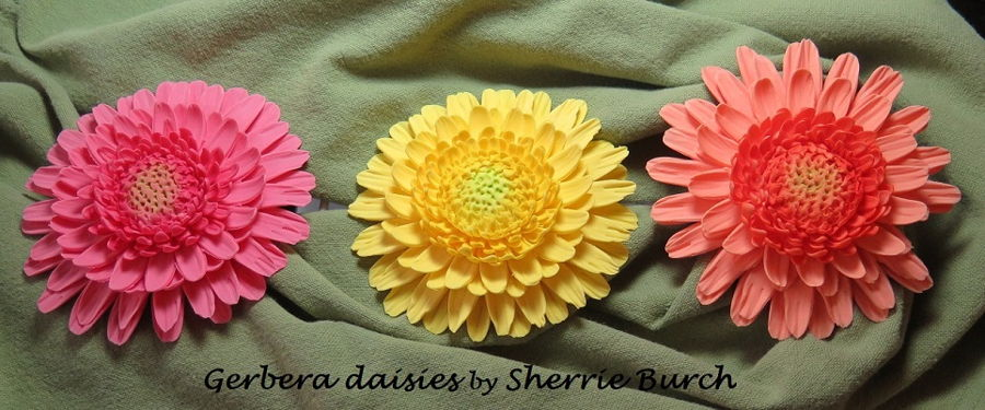Gerbera Daisies on Cake Central