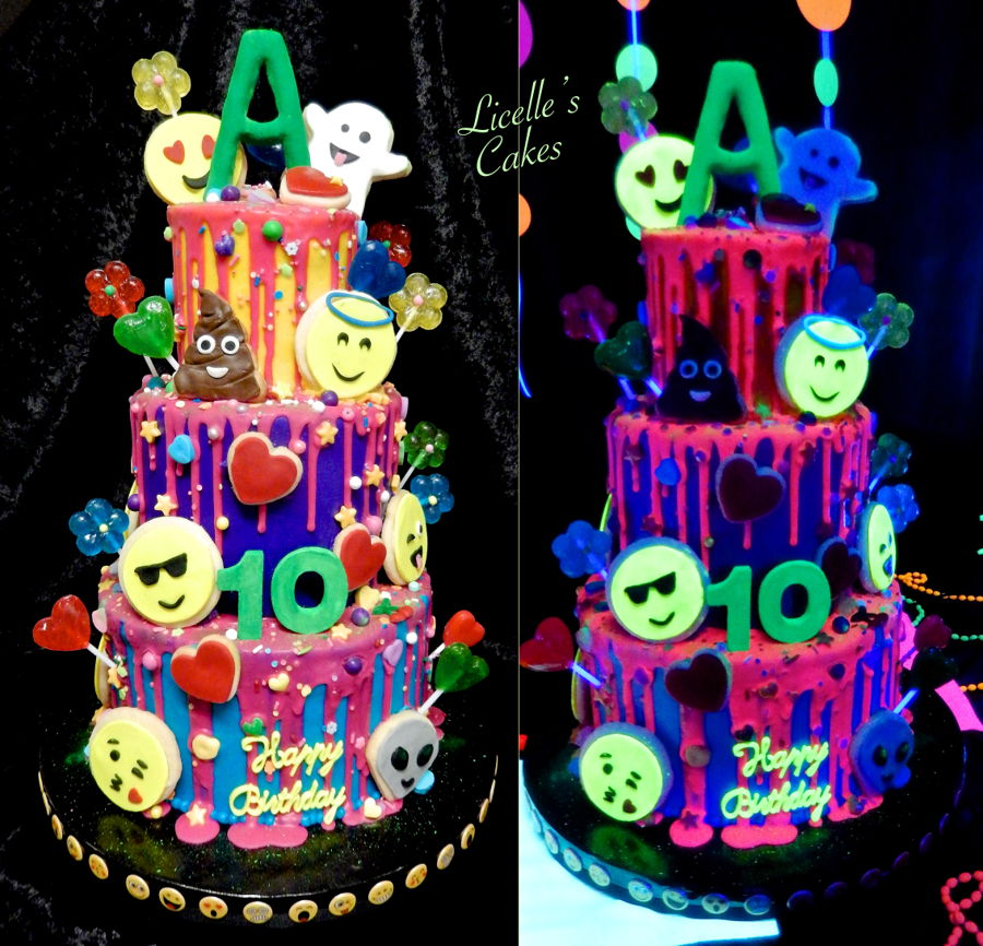 Glow In The Dark Emoji Cake Cakecentral