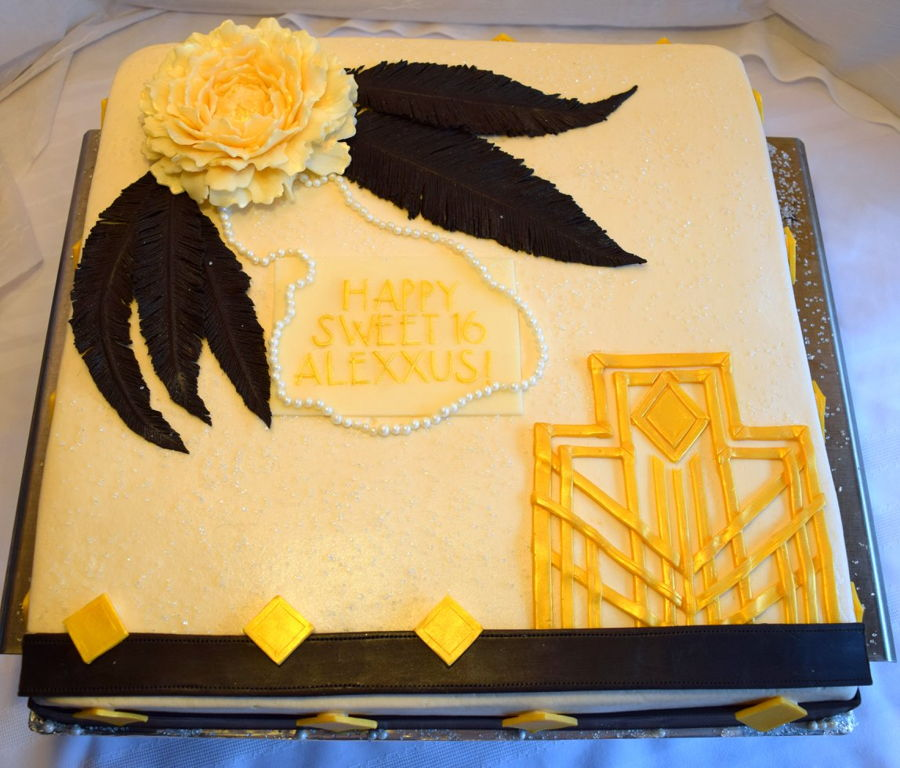 Great Gastby Sweet 16 Sheet Cake CakeCentralcom