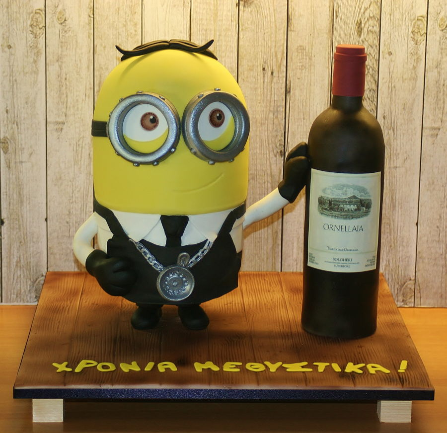 Minion Sommelier on Cake Central